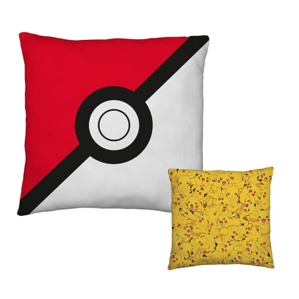 Pokémon Poké Ball / Pikachu Reversible Cushion