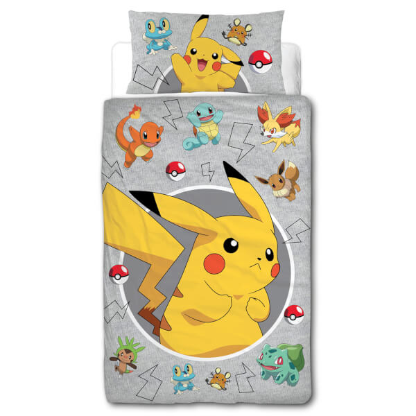 Pokémon Characters Single Panel Duvet Cover Set