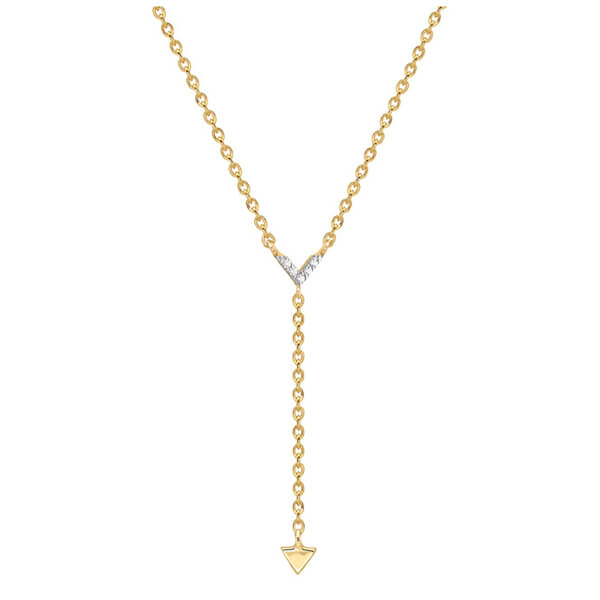 Missoma Women's Nexus Lariat Necklace - Gold