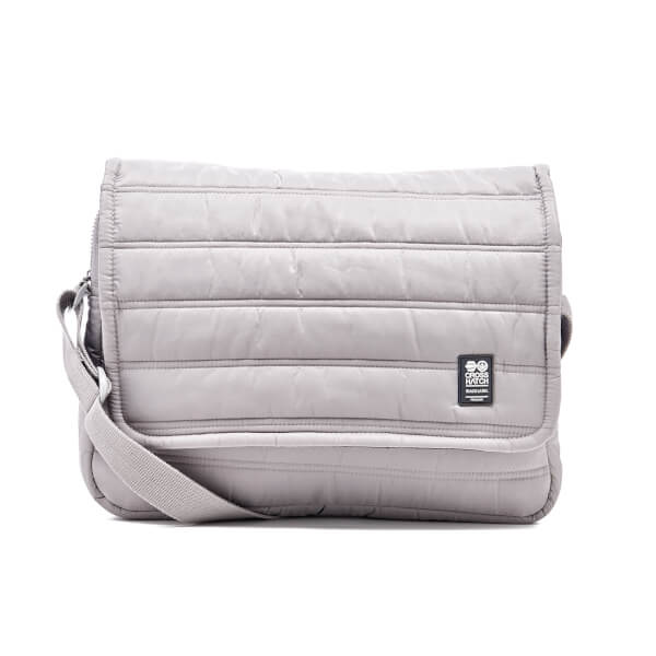 Crosshatch Ridger Quilted Messenger Bag - Grey