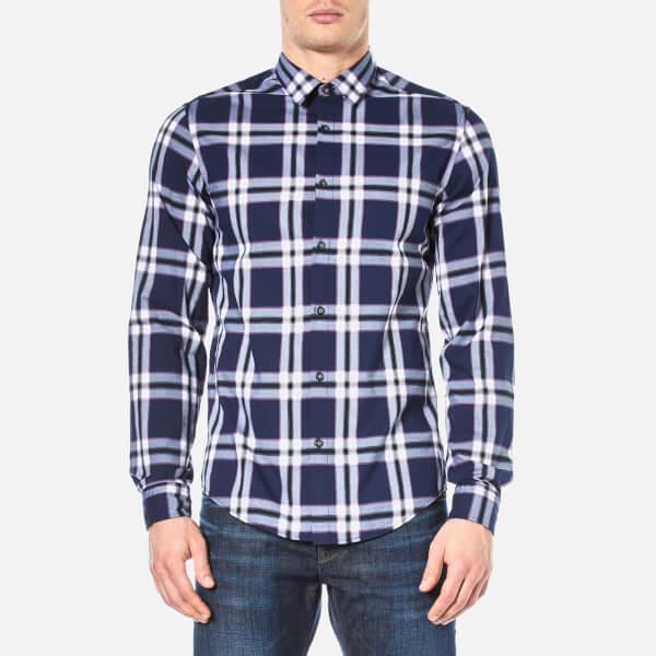 BOSS Green Men's Bopaz Shirt - Navy