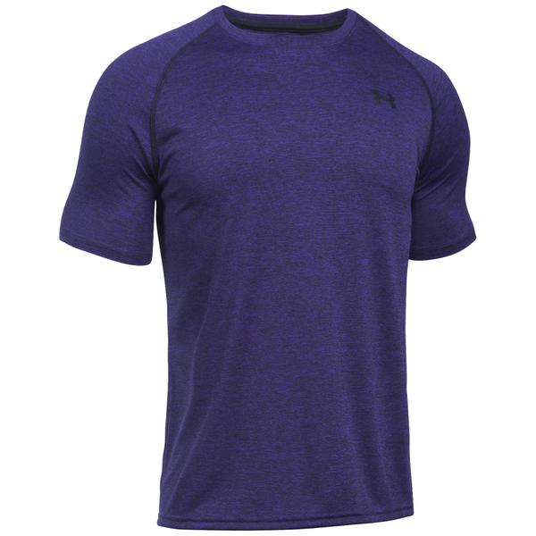 Under armour men 39 s tech short sleeve t shirt purple zest for Under armour heatgear tech short sleeve t shirt