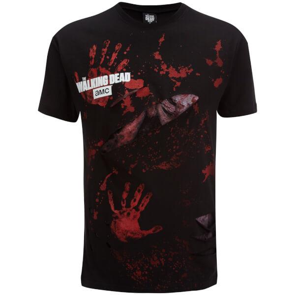 T-Shirt Homme Spiral Walking Dead Rick All Infected -Noir