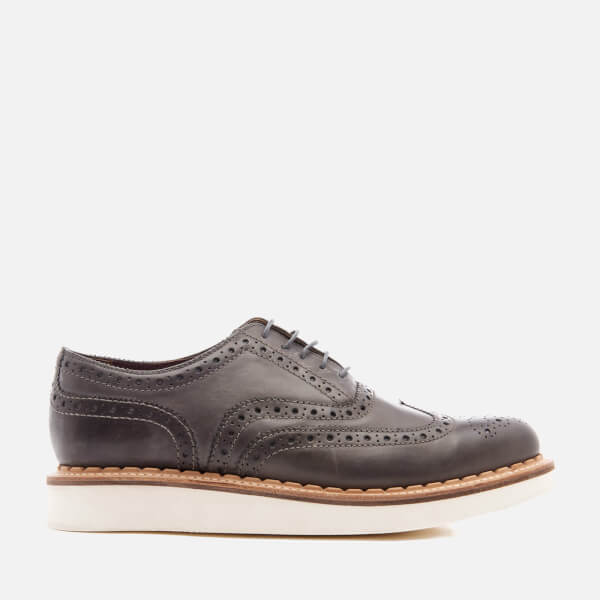 Grenson Men's Stanley V Leather Brogues - Anthracite