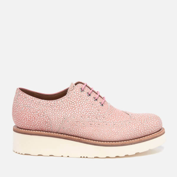 97de752029c Grenson Women s Emily Stingray Leather Brogues - Pink
