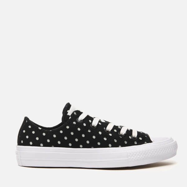 4850ba751bb27e Converse Women s Chuck Taylor All Star II Ox Trainers - Black White  Image 1
