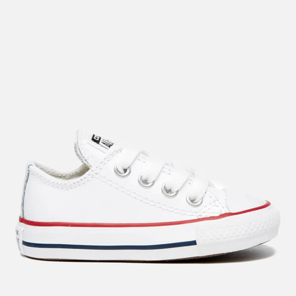 d1950aac41bff5 Converse Toddlers  Chuck Taylor All Star Ox Trainers - White Garnet Navy