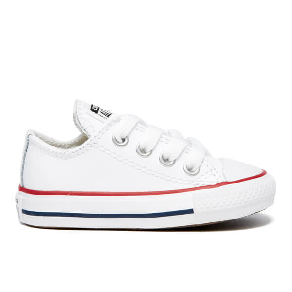 Converse Toddlers' Chuck Taylor All Star Ox Trainers - White/Garnet/Navy