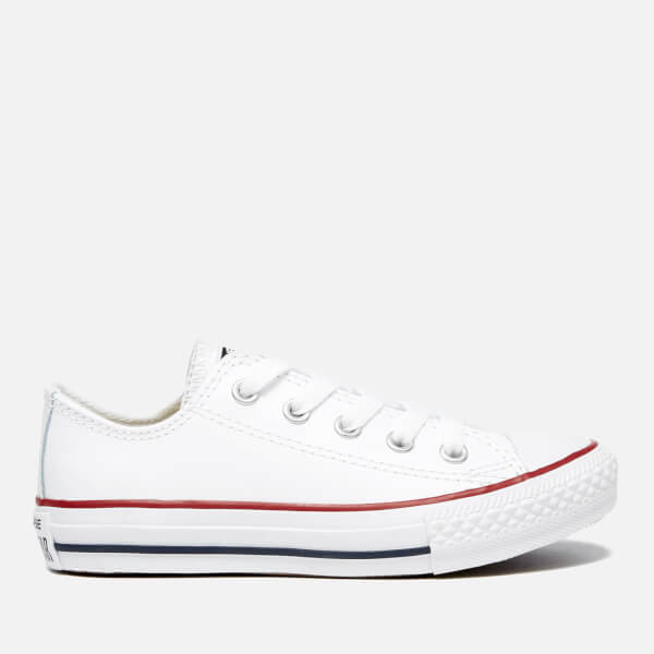 2ab392ce9a5603 Converse Kids  Chuck Taylor All Star Ox Trainers - White Garnet Navy ...