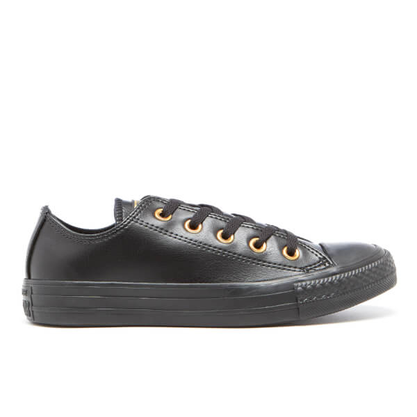 Converse Women's Chuck Taylor All Star Ox Trainers - Black/Gold