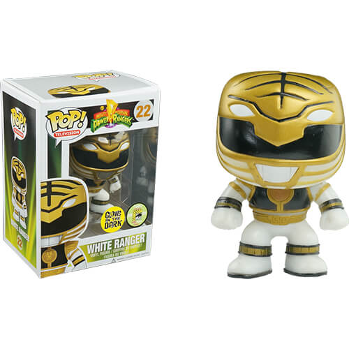 Funko White Power Ranger (GITD) Pop! Vinyl
