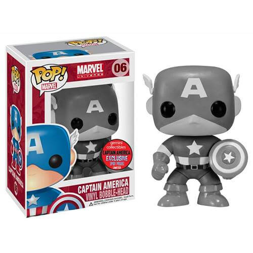 Funko Captain America B&W (Gemini Exclusive) Pop! Vinyl