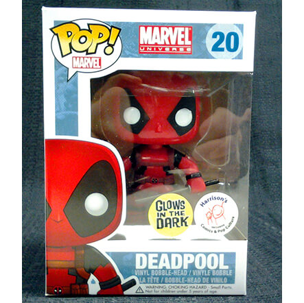 Funko Deadpool Glow (Harrisons Comics Exclusive) Pop! Vinyl