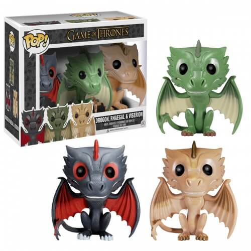Funko Drogon, Rhaegal And Viserion 3 Pack (Hbo Exclusive) Pop! Vinyl