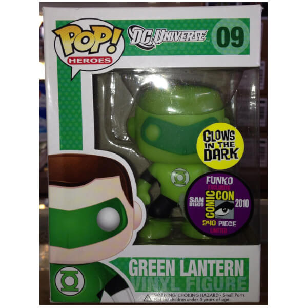 Funko Green Lantern GITD SDCC 2010 Pop! Vinyl