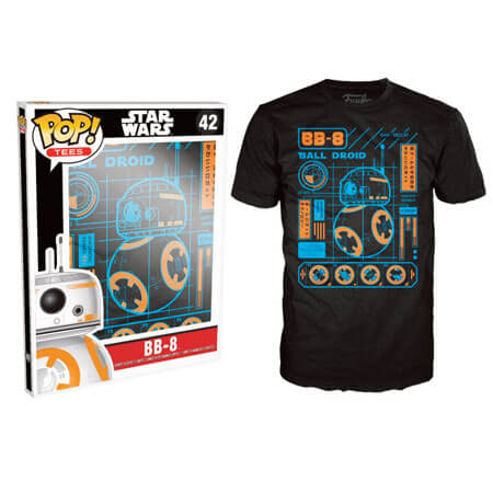 Funko Star Wars Pop! Tee Bb8 Blueprint Pop! Tees