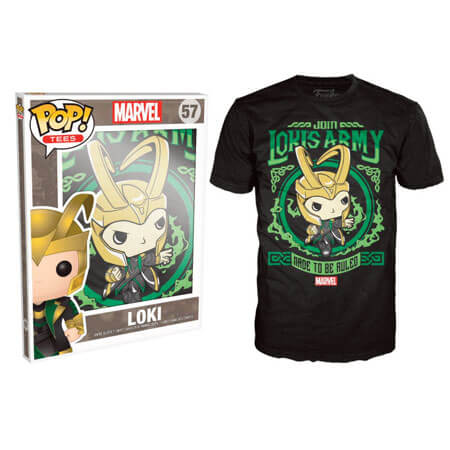 Funko XXL-Marvel Pop! Tee Lokis Army Pop! Tees
