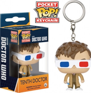 Funko Doctor Who 3D Glasses Keyring Pop! Keychain