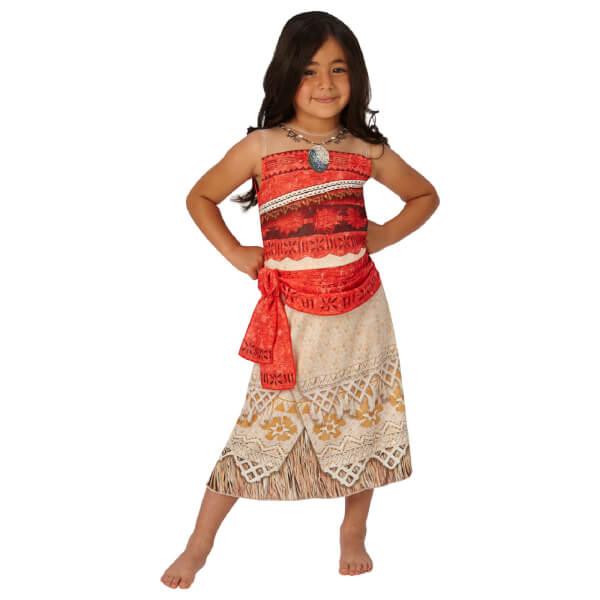 Disney Girls' Moana Fancy Dress Costume