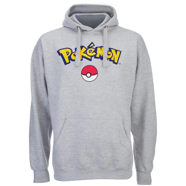Pokemon Men's Logo Hoody - Grey Marl