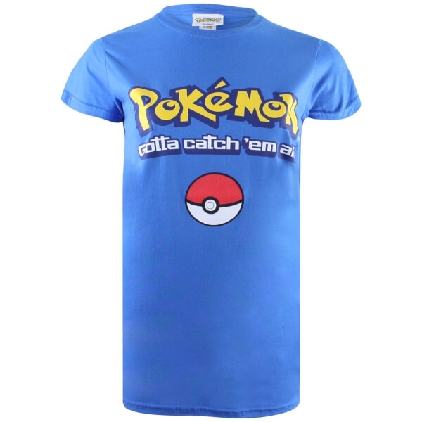 Pokemon Men's Gotta Catch Em All Logo T-Shirt - Royal Blue