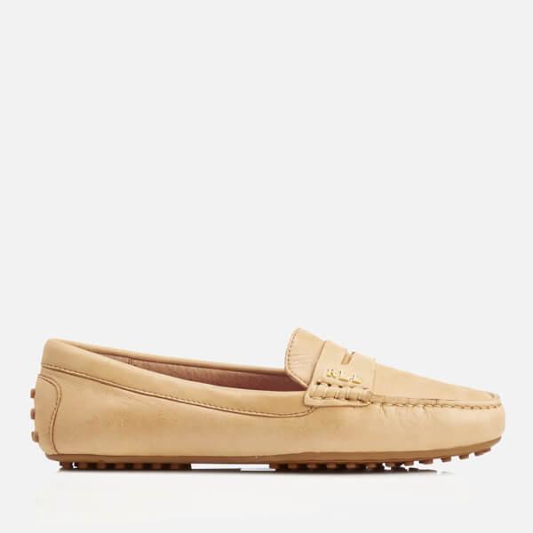 Lauren Ralph Lauren Women's Belen Soft Leather RL Loafers - Camel