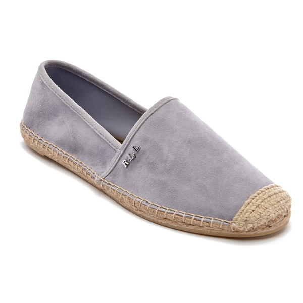 lauren ralph lauren women 39 s danita suede flat espadrilles chalk grey free uk delivery allsole. Black Bedroom Furniture Sets. Home Design Ideas