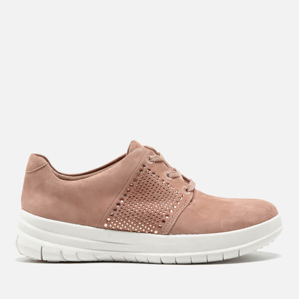 d4cee1f5f61 FitFlop Women s Sporty-Pop X Crystal Trainers - Mocha  Image 1