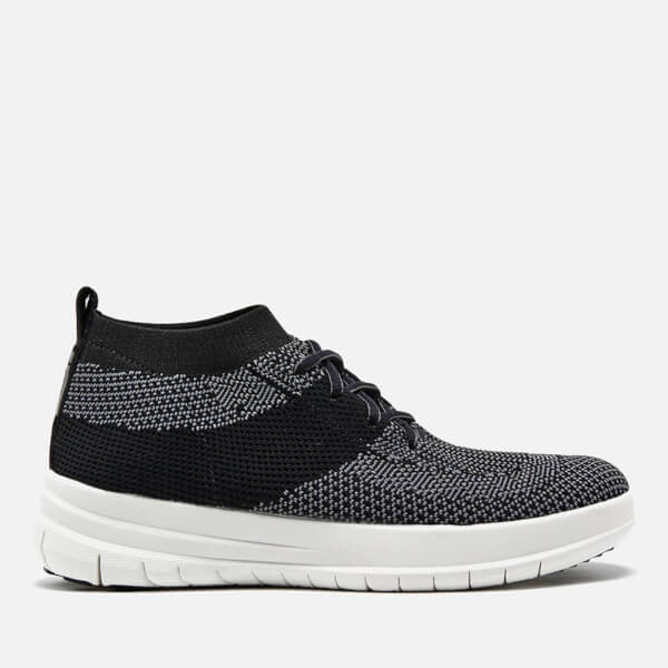 FitFlop Women's F-Sporty Überknit Trainers - Black/Charcoal