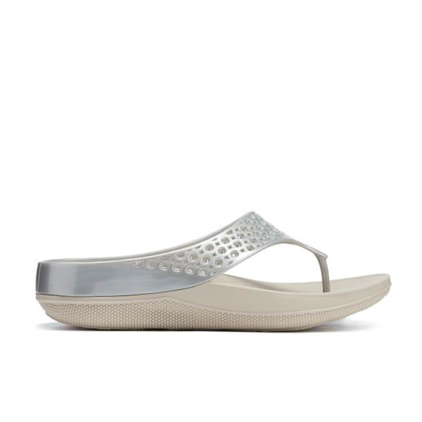FitFlop Women's Ringer Welljelly Flip-Flops - Silver