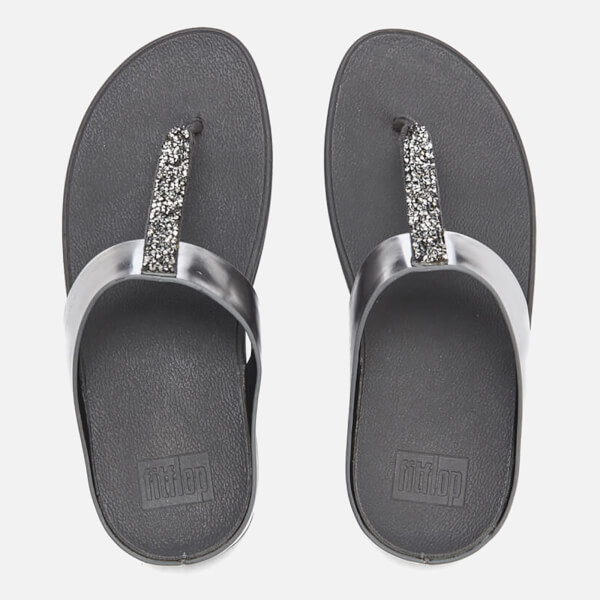 4fcac26f777 FitFlop Women s Fino Toe-Post Sandals - Pewter