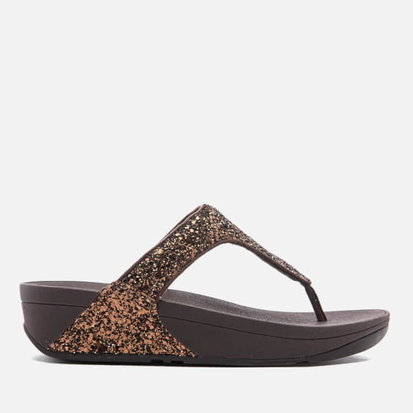 FitFlop Women's Glitterball Toe-Post Sandals - Bronze