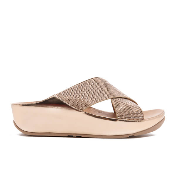 15f0716f69b532 FitFlop Women s Crystall Slide Sandals - Rose Gold  Image 1