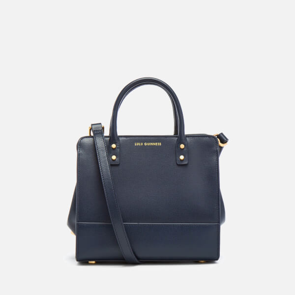 Lulu Guinness Women s Mini Daphne Textured Leather Square Cross Body Bag -  Navy - Free UK Delivery over £50 7f1304599a