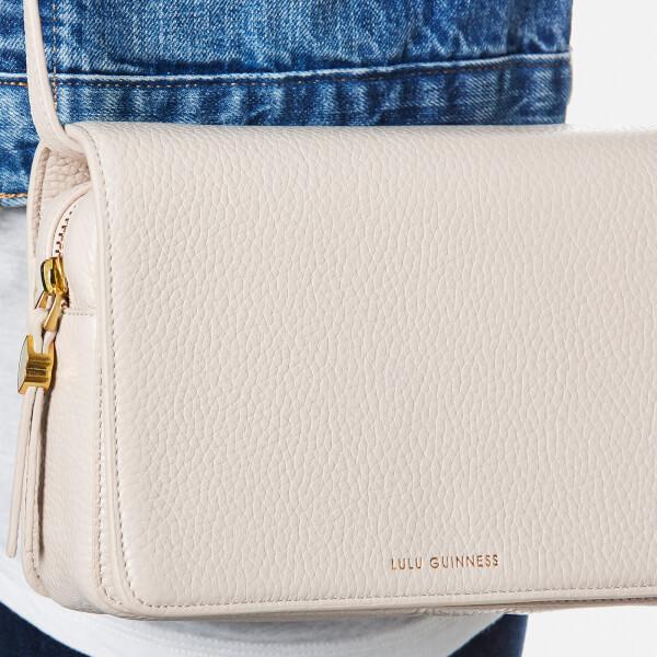 Lulu Guinness Women s Rene Grainy Leather Cross Body Bag - Porcelain  Image  3 7bdc9d0712369