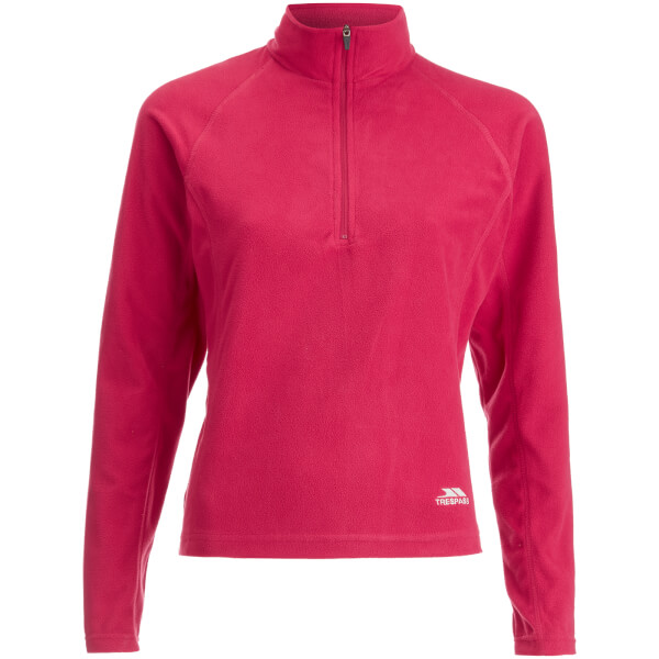 Trespass Women's Shiner Half Zip Fleece Jumper - Cerise