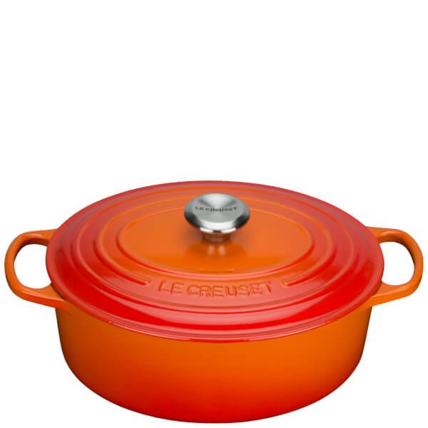 Le Creuset Signature Cast Iron Oval Casserole Dish - 31cm - Volcanic