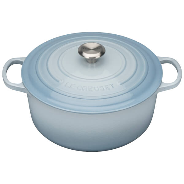 Le Creuset Signature Cast Iron Round Cerole Dish 28cm Coastal Blue Image 1