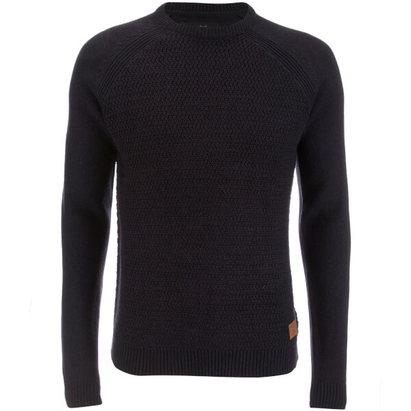 Threadbare Men's Chartwell Raglan Jumper - Navy