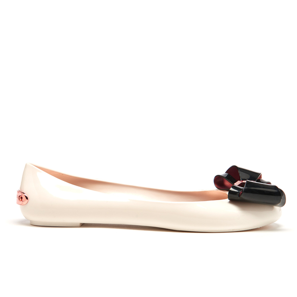 089e5f4df67a Ted Baker Women s Julivia Bow Front Ballet Pumps - Cream Black ...