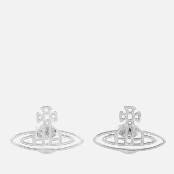 Vivienne Westwood Women's Thin Lines Flat Orb Earrings - Rhodium