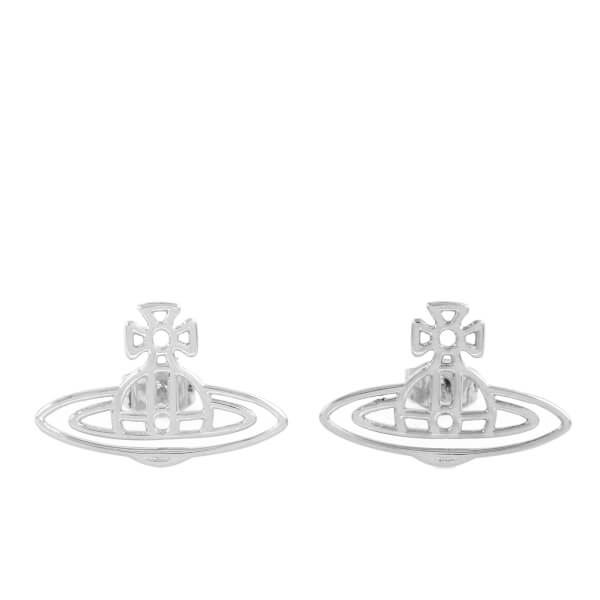 Vivienne Westwood Women's Thin Lines Flat Orb Earrings - Rhodium
