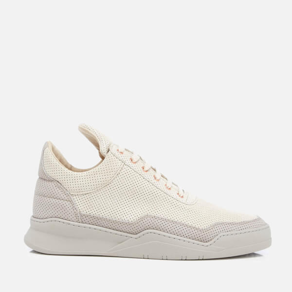 Filling pieces Women's Ghost Perforated Suede Low Top Trainers - - UK 3 CDrwv