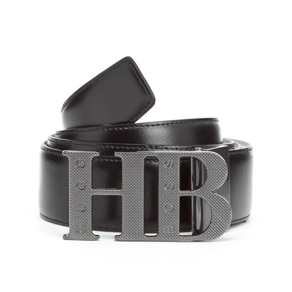 BOSS Green Men's Balwinno Leather Belt - Black