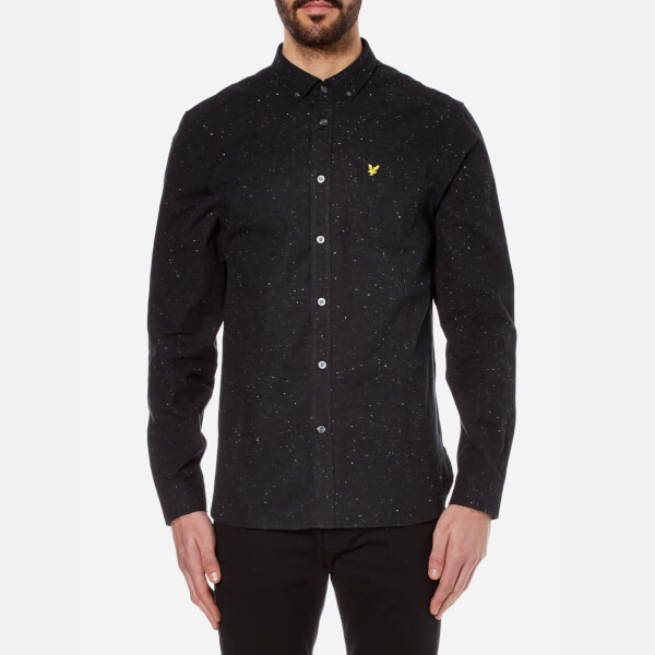 Lyle & Scott Men's Brushed Fleck Shirt - True Black
