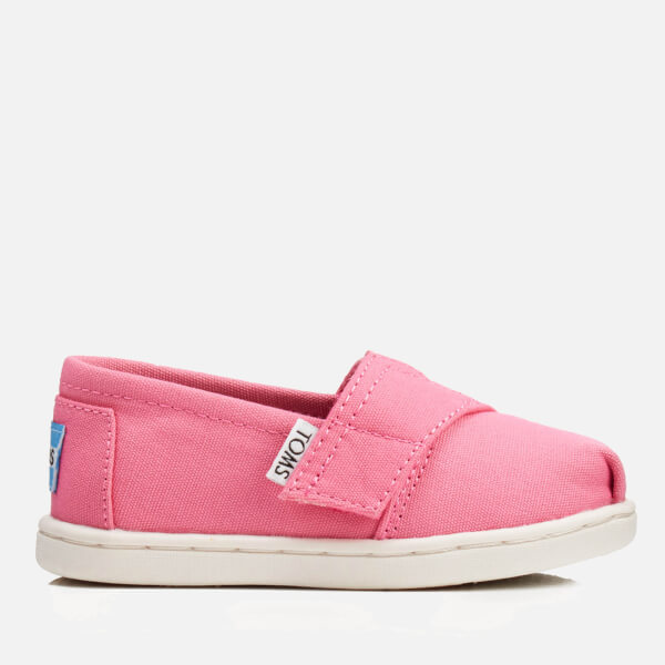 TOMS Toddlers' Seasonal Classics Slip-On Pumps - Bubblegum Pink Canvas