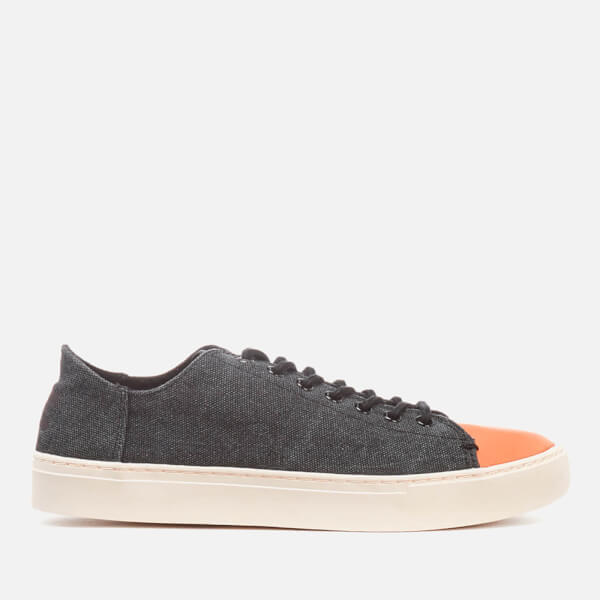 TOMS Men's Lenox Washed Canvas Trainers - Black Washed Canvas