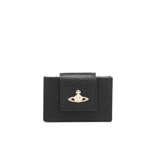 Vivienne Westwood Women's Balmoral Grain Leather New Credit Card Holder - Black
