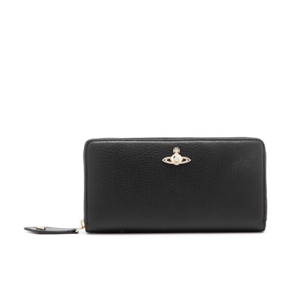 Vivienne Westwood Women's Balmoral Grain Leather Zip Around Wallet - Black