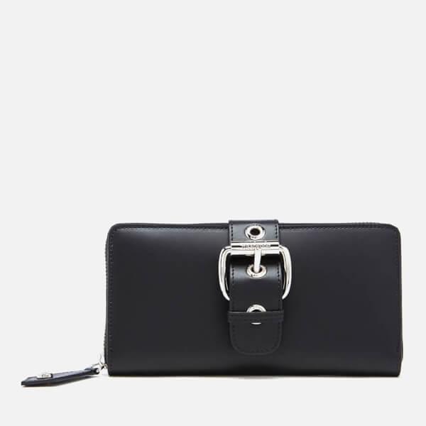 9cd5f93c11 Vivienne Westwood Women's Alex Buckle Zip Around Wallet - Black: Image 1